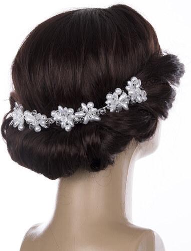 cdfdc76992b -20% Fashion Icon Svatební ozdoba do vlasů - čelenka velké krystalky a perly  do vlasů
