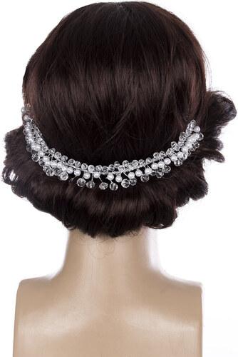 Fashion Icon Svatební ozdoba do vlasů - čelenka Diamond crystal krystalky a perly  do vlasů da7f1ccf0d