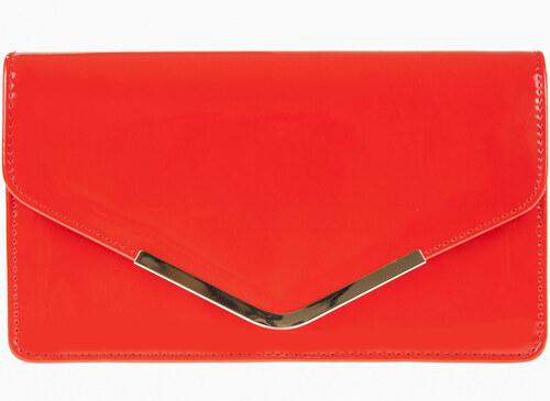 Lakovaná listová kabelka K-B91127 C80007 červená - Glami.sk eb52e517858