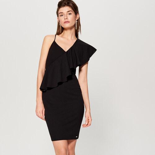 23496753dc0e Mohito - Puzdrové šaty s volánom - Čierna - Glami.sk