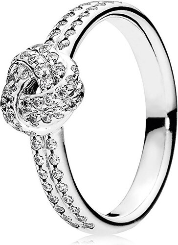 Pandora Třpytivý stříbrný prsten s uzlíkem 190997CZ - SLEVA - Glami.cz 7c9d3fe2bdb