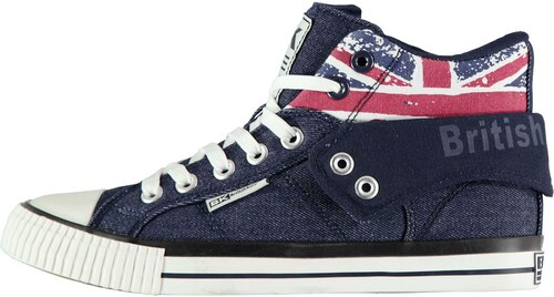 4dfb3cb25a14 British Knights Roco Fold Canvas Mens Hi Tops Union Jack - Glami.cz
