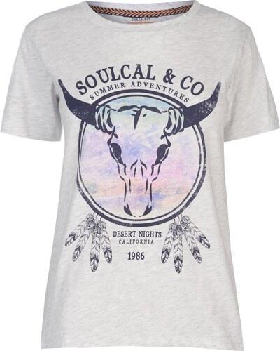 ff1f97211b78 Tričko s krátkým rukávem SoulCal Fashion Luxe T Shirt Ladies - Glami.cz