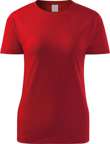 ef5985e87147 The SHE Červené klasické dámske tričko - Glami.sk