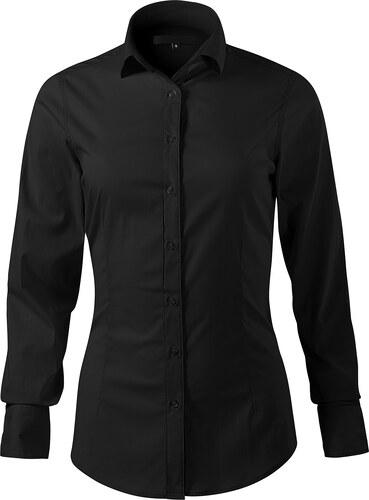 04eb1c3c9a1b The SHE Čierna elegantná dámska slim fit košeľa s dlhým rukávom ...