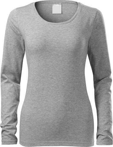 69c683a930 The SHE Melírované tmavosivé dámske tričko s dlhým rukávom - Glami.sk