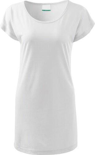 c7d68b5dbd99 The SHE Biele dámske dlhé tričko šaty - Glami.sk
