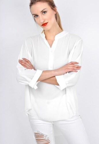 46284498a4c3 The SHE Smotanovo biela asymetrická dámska košeľa - Glami.sk