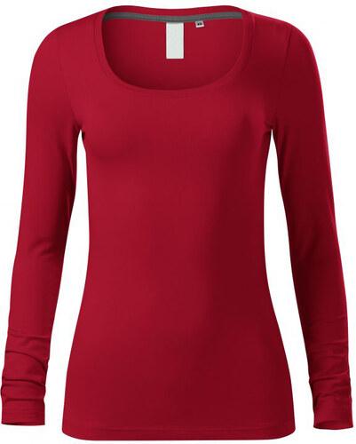 3a0212830f01 The SHE Červené elegantné dámske tričko s dlhým rukávom - Glami.sk
