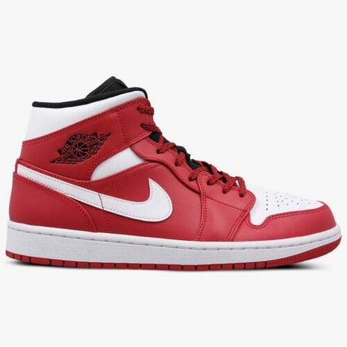 Nike Air Jordan 1 Mid Muži Boty Tenisky 554724-605 Červená - Glami.cz 41259f6177