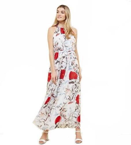 65f35f946cf8 NEW LOOK Biele kvetinové maxi šaty bez rukávov - Glami.sk