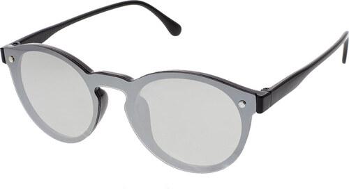 A Collection Slnečné okuliare Fully čierne rámy strieborné sklá ... e711c33b89f