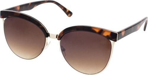 A Collection Polorámové slnečné okuliare Botany žíhané hnedé rámy hnedé sklá 5c76c3272c5
