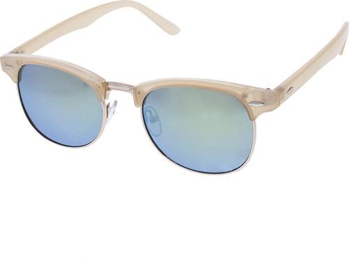A Collection Polorámové slnečné okuliare Grow béžové rámy zlaté sklá ... 296ad73ff93