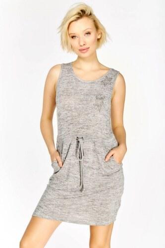 HAILYS Hailys dámské žíhané šaty STEFFANIE na ramínka šedé f6d992ba81e