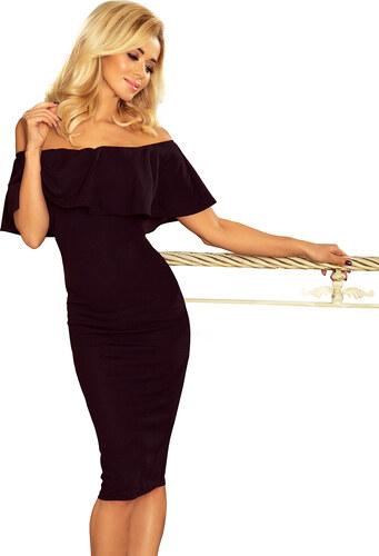NUMOCO Elegantné čierne šaty 138-7 - Glami.sk fe7fdc52750