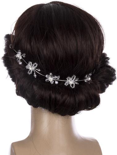 -20% Fashion Icon Svatební ozdoba do vlasů - čelenka Pearl krystalky a perly  do vlasů da067bf5dd