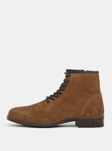 1dcc65afe7 Hnedé pánske semišové členkové topánky Burton Menswear London - Glami.sk