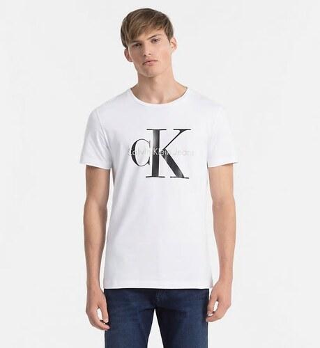 Calvin Klein pánské bílé tričko - Glami.cz f1867fcea2