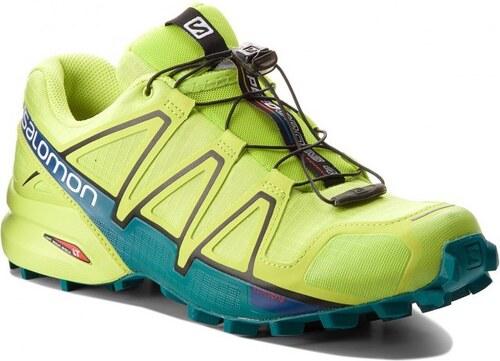 Pánské Běžecké boty Salomon SPEEDCROSS 4 acid lime lime green deep lake 920c62a6af