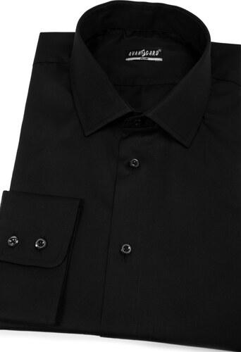 290285408cdb Čierna pánska košeľa SLIM z bavlny Avantgard 109-23-40 182 - Glami.sk