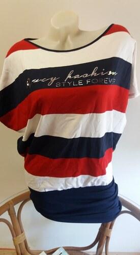Rucy fashion piros-fehér-kék csíkos tunika - Glami.hu a678d103e3