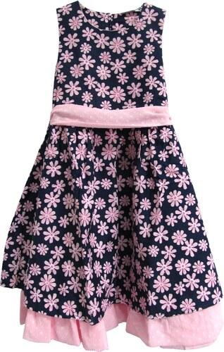 f7d9aef00084 Topo Dievčenské kvetované šaty - čierno-ružové - Glami.sk