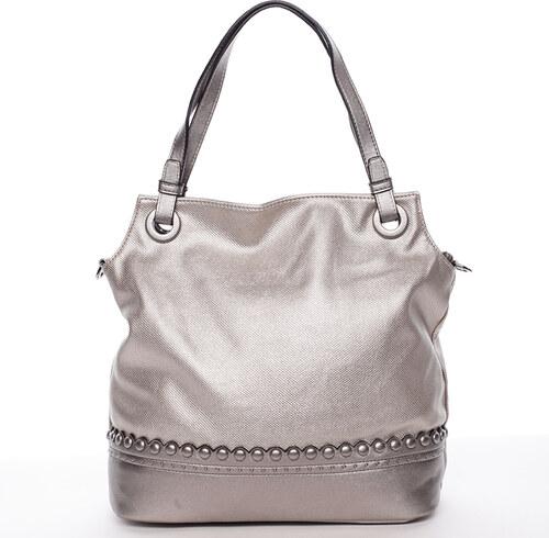8a7690a4d5 Módna dámska kabelka na predlaktí strieborná - MARIA C Skylar strieborná
