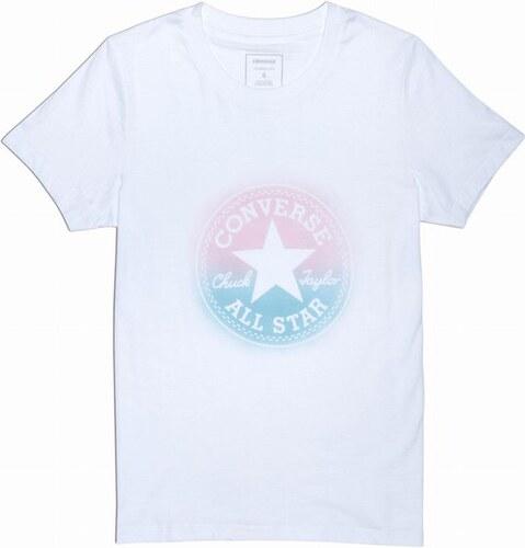 721add31f33 Dámské tričko Converse W Converse Ombre CP Crew Tee L white - Glami.cz