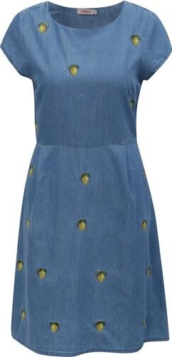 f76688c354ce Modré dámske rifľové šaty s motívom citrónov Cath Kidston - Glami.sk