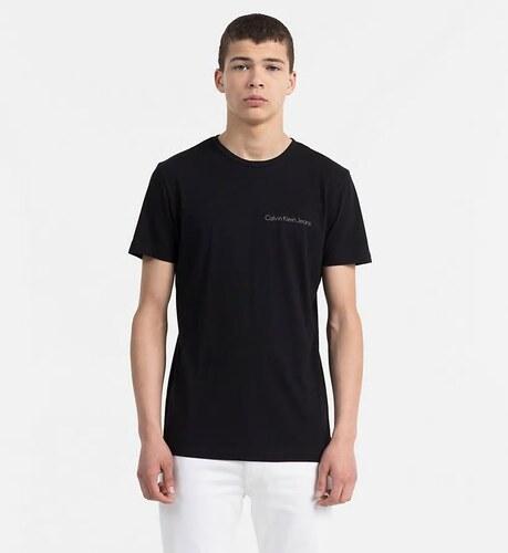 abc9abc3aa Calvin Klein pánske čierne tričko Typoko - Glami.sk