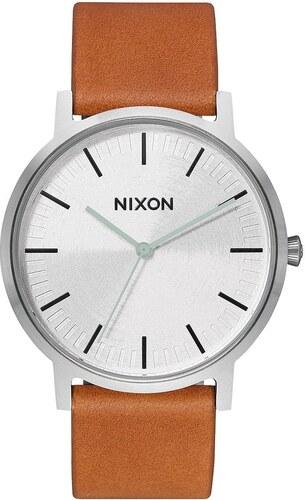 Nixon Porter Leather hnedé   strieborné - Glami.sk 78b3ae60fc