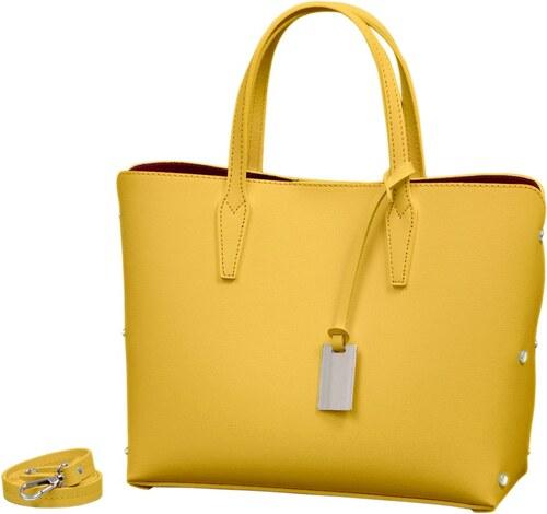 Žltá kabelka z pravej kože Andrea Cardone Dettalgio - Glami.sk a973a3b87e7