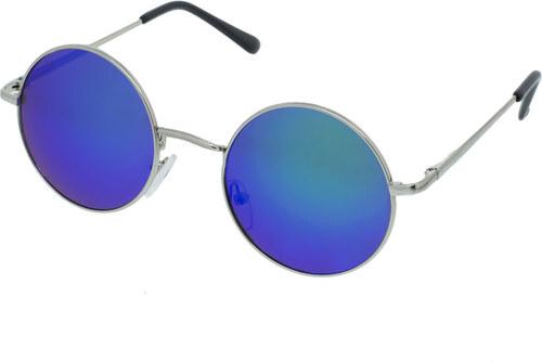fdad56feb A Collection Slnečné okuliare lenonky Stage strieborné rámy modré sklá