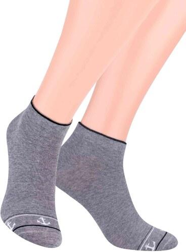 Pánské kotníkové ponožky se vzorem kotvy 101 1 STEVEN - Glami.cz 013bf93d50
