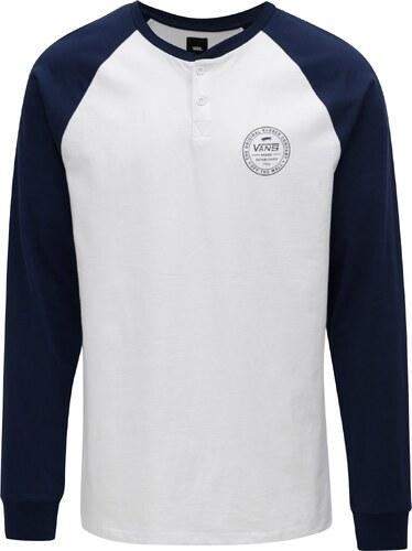 f0e262d0e31 Modro–biele pánske tričko s gombíkmi VANS Denton - Glami.sk