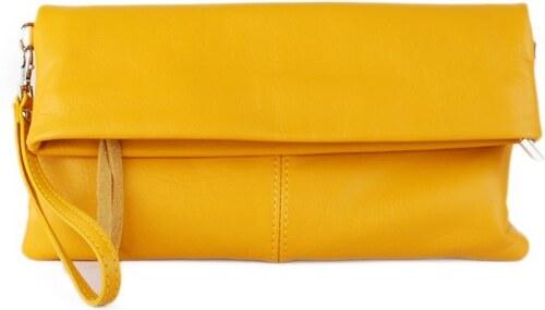 e5c52b5297 -13% TALIANSKE Listová kožená kabelka malá crossbody a do ruky Talianska  žltá Violeta