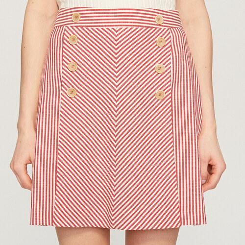314419eb1e16 Reserved - Dvojradová sukňa - Červená