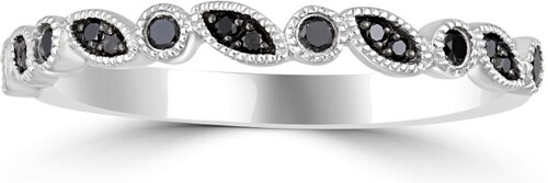Eppi Černé diamanty ve zlatém eternity prstenu Erifyla - Glami.cz 0476d51c223