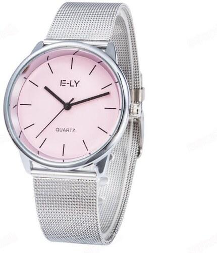 Shim Watch Dámské kovové hodinky Relogio růžové - Glami.cz 7d4b569185