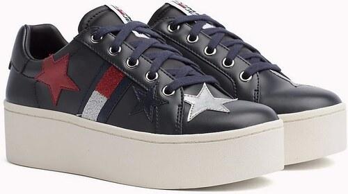 Tommy Hilfiger tmavo modré kožené tenisky Tommy Jeans Icon Sparkle Sneaker d187af1a13