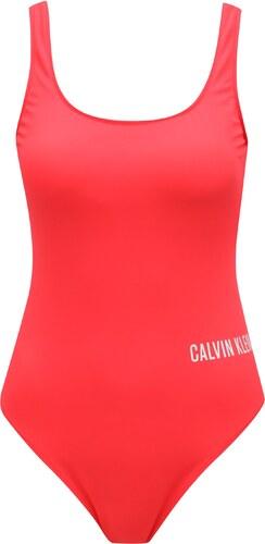 9780ce7e818 Červené dámske jednodielne plavky Calvin Klein - Glami.sk