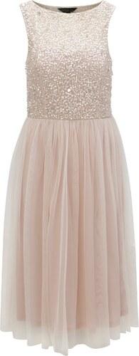 Světle růžové šaty s flitrovaným topem Dorothy Perkins - Glami.cz 80efede31f