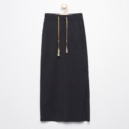 b188f80c8ca7 Reserved - Dlhá tepláková sukňa - Čierna - Glami.sk