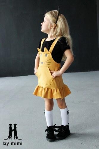 ce14060c4deb BY MIMI Dievčenské bavlnené šaty KITTY 502 horčicové - Glami.sk