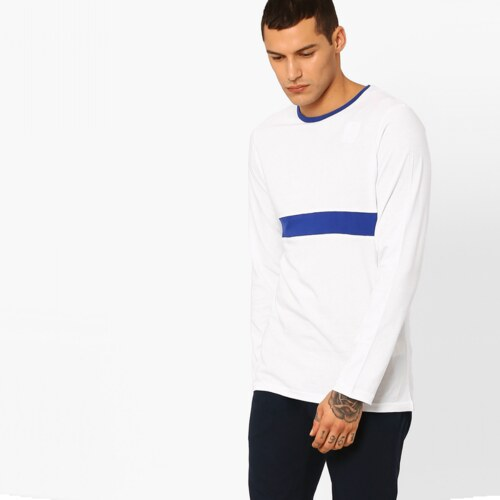 2875f5bb99f NATIVE YOUTH Bílé triko s dlouhým rukávem Shanklin S - Glami.cz