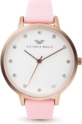 1efc0620d Dámske hodinky s ružovým koženým remienkom Victoria Walls Dusk ...