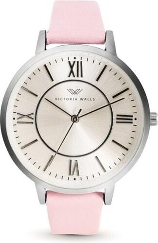 2dcdbbc3b Dámske hodinky s ružovým koženým remienkom Victoria Walls Classy ...