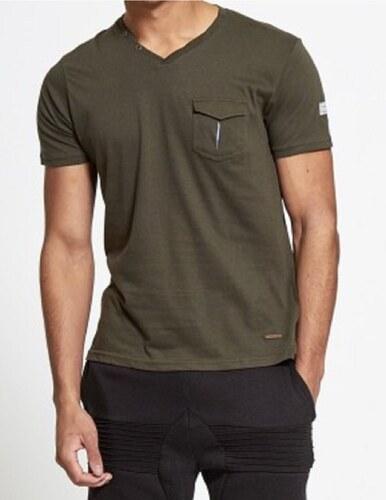 501ad0e39a0 MyTrends Pánské tričko Brave Soul Button V-Neck model Gregor - Glami.sk