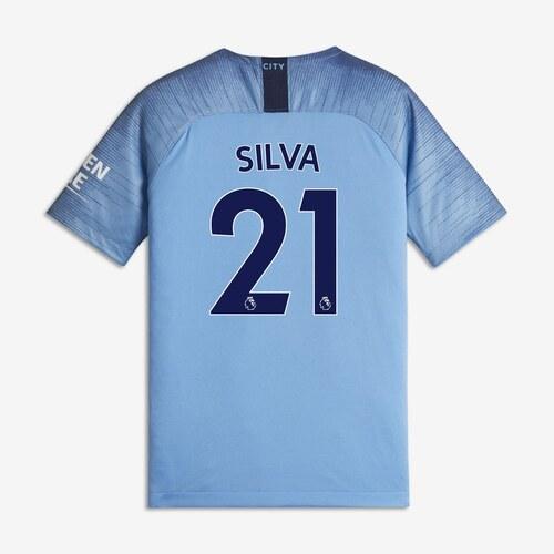 Dres Nike Manchester City David Silva Home Shirt 2018 2019 Junior ... a2f1f8fc682